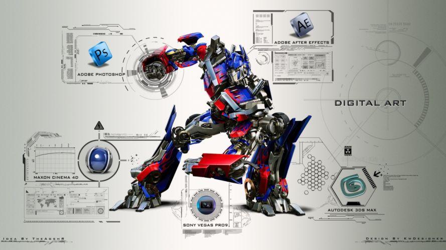 Transformers AutobotOptimus Prime Robot CG mecha wallpaper