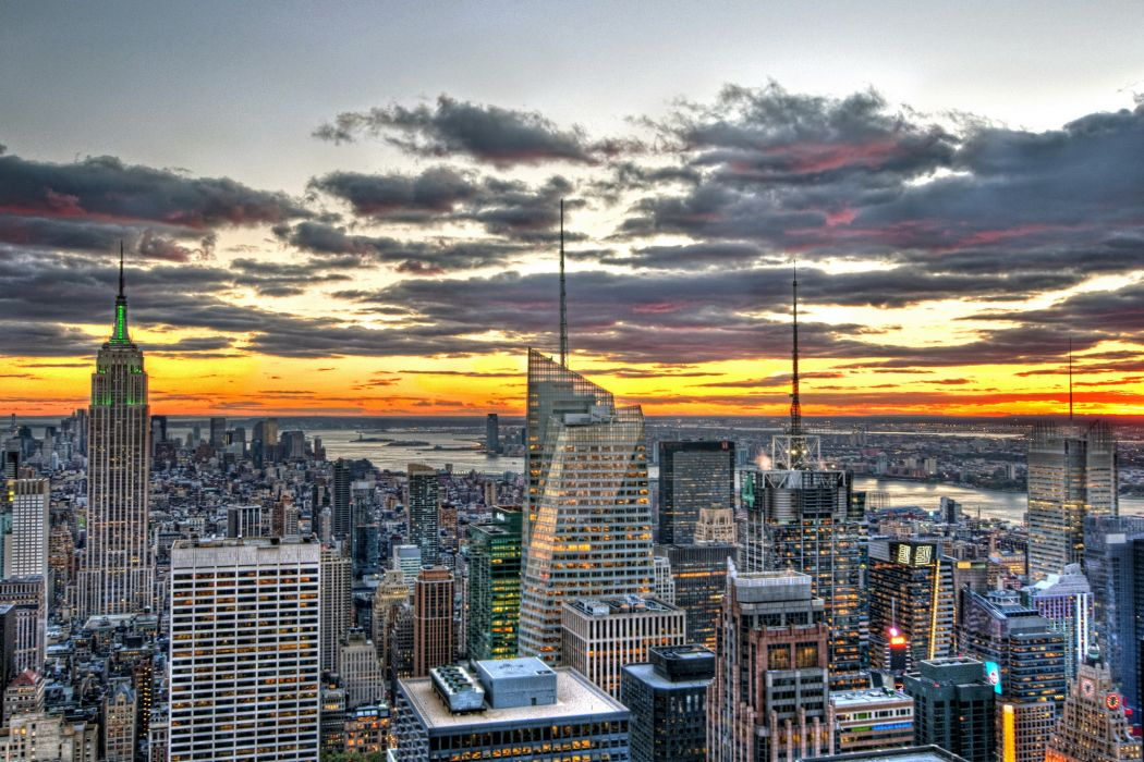 USA Skyscrapers Houses New York City HDR Cities wallpaper