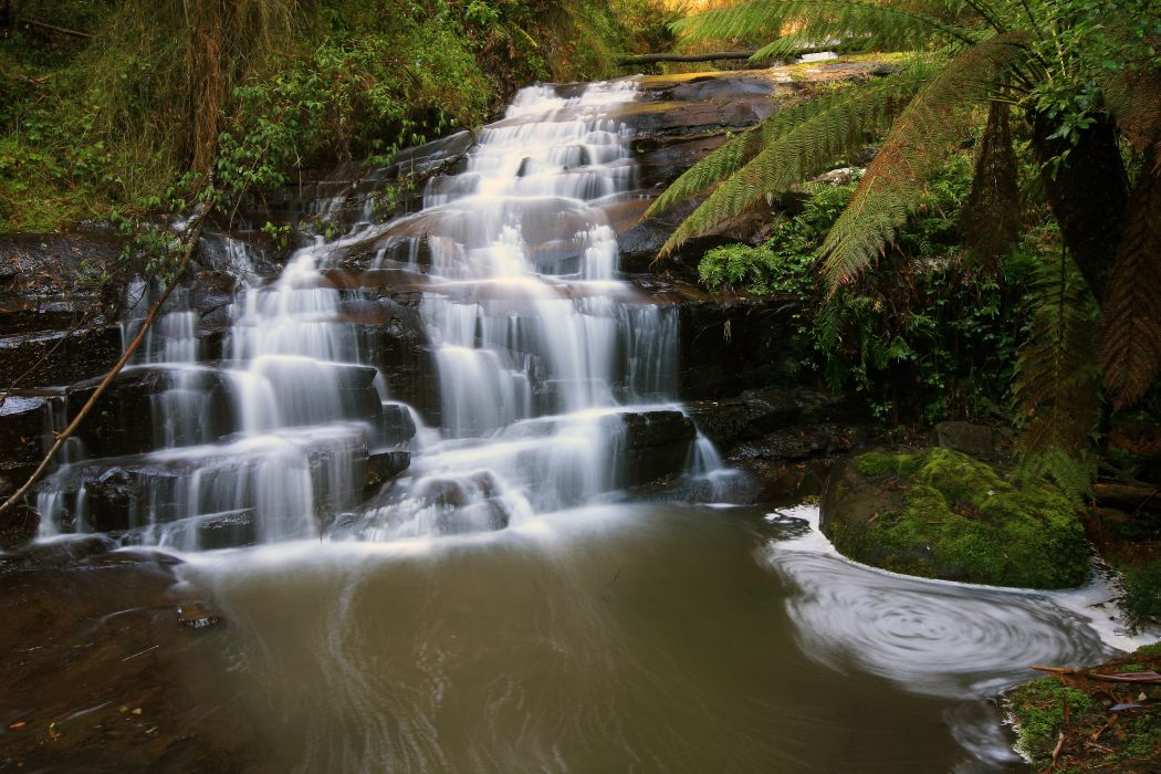 Waterfalls Australia Parks Great Otway Nature wallpaper
