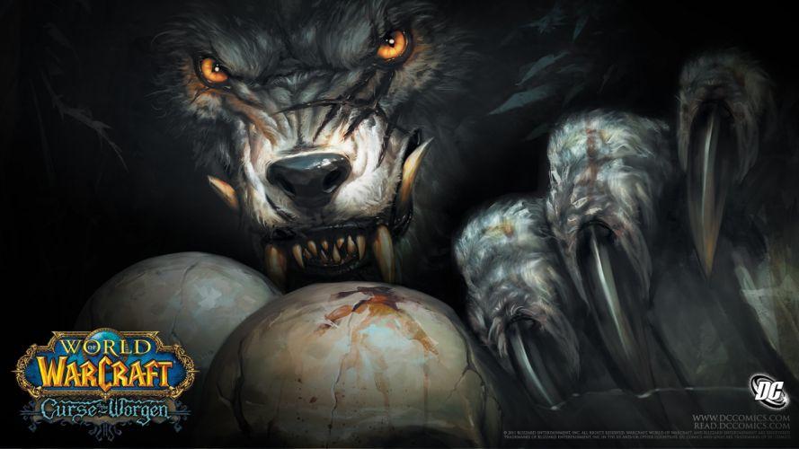 World of Warcraft WOW Drawing Werewolf dark wallpaper