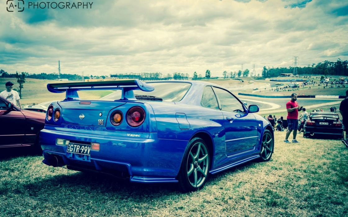 nissan skyline r34 GTR wallpaper