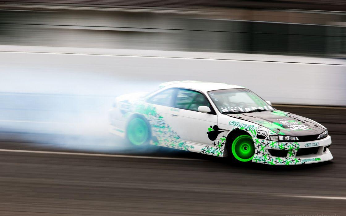 drift car nissan silvia s14 wallpaper