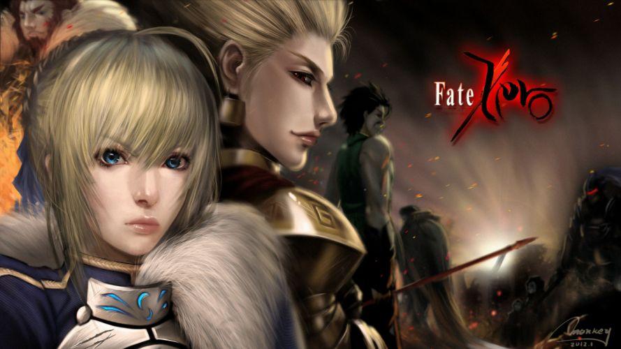 Fate Zero Saber Lancer Archer Rider wallpaper