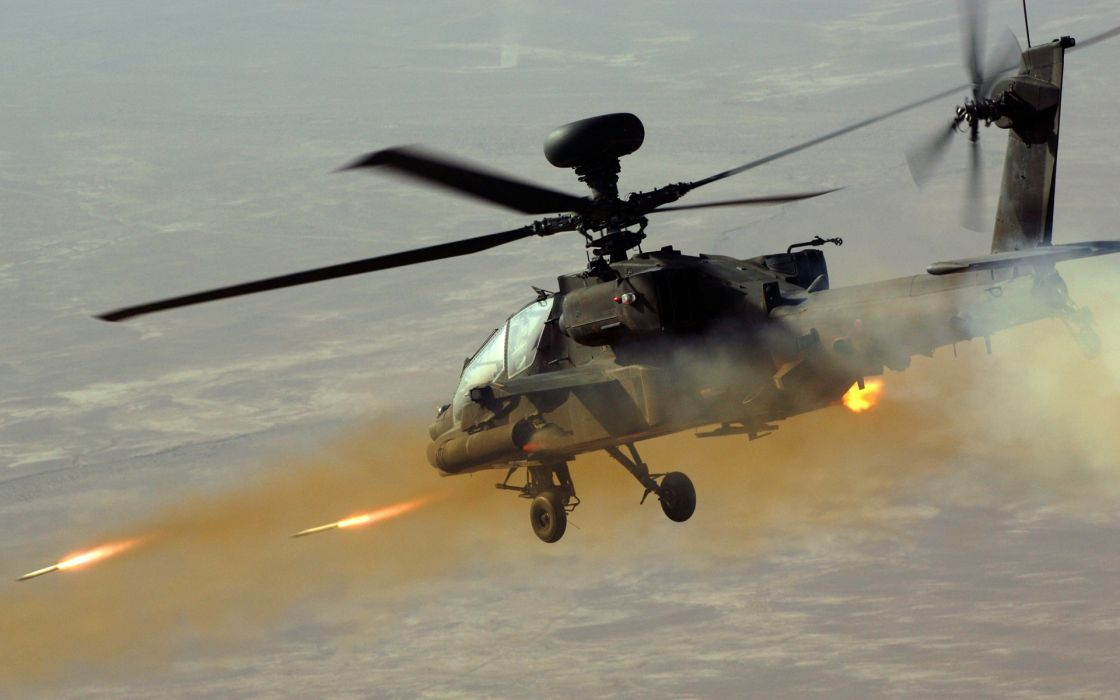 Helicopter Missiles military battle wallpaper