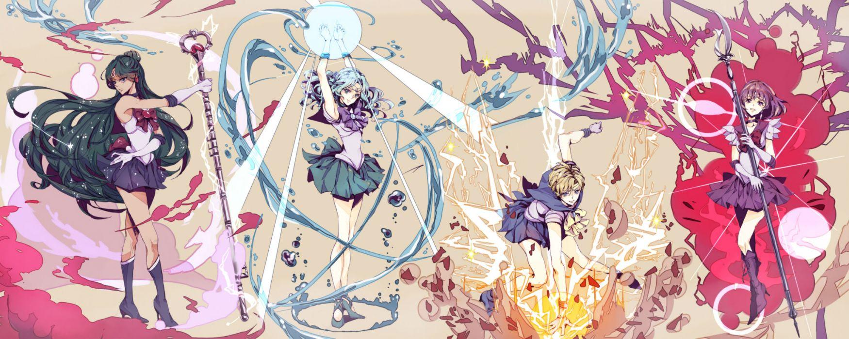 sailor moon kaiou michiru meiou setsuna sailor moon tenou haruka tomoe hotaru wallpaper