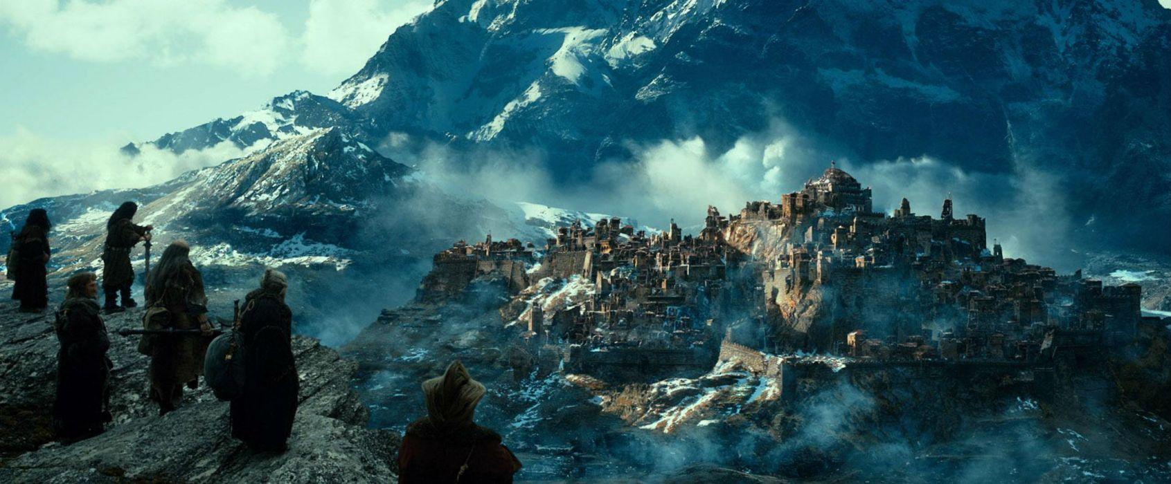 The Hobbit Desolation Of Smaug 2013 fantasy city castle wallpaper
