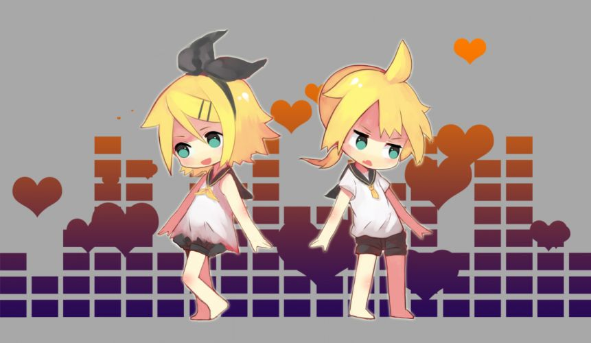 Vocaloid Kagamine Twins chibi wallpaper