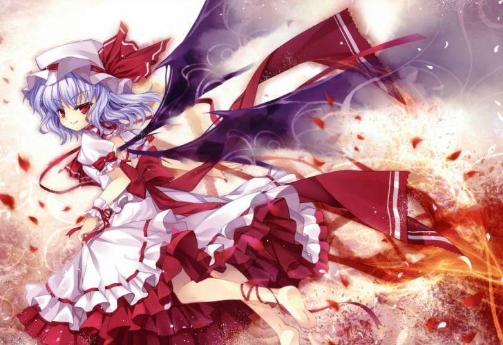 touhou blood capura lin eternal phantasia red eyes remilia scarlet touhou wings wallpaper