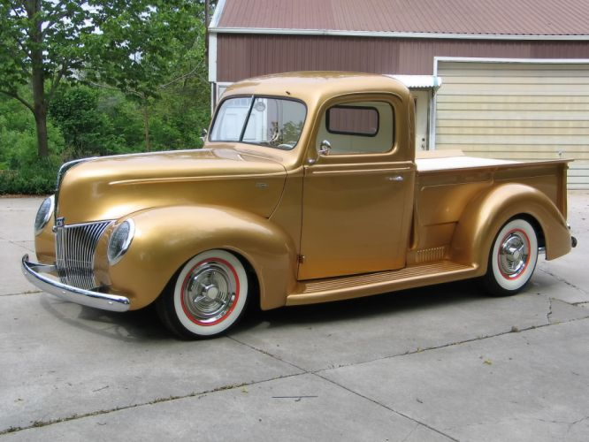 1940 Ford Pickup truck retro hot rod rods lowrider lowriders h wallpaper