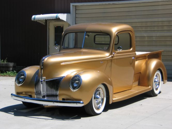 1940 Ford Pickup truck retro hot rod rods lowrider lowriders ff wallpaper