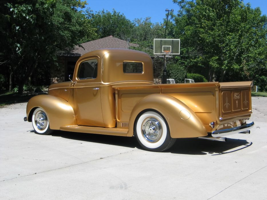 1940 Ford Pickup truck retro hot rod rods lowrider lowriders    f wallpaper