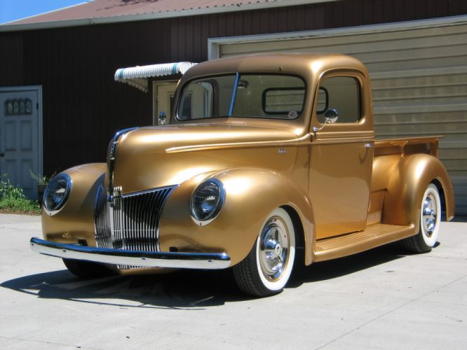 1940 Ford Pickup truck retro hot rod rods lowrider lowriders wallpaper