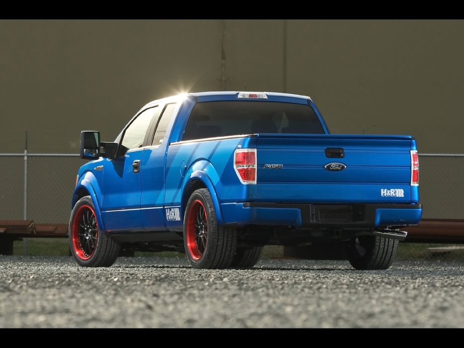 2009 Ford F-150 pickup truck muscle hot rod rods tuning supertruck    d wallpaper