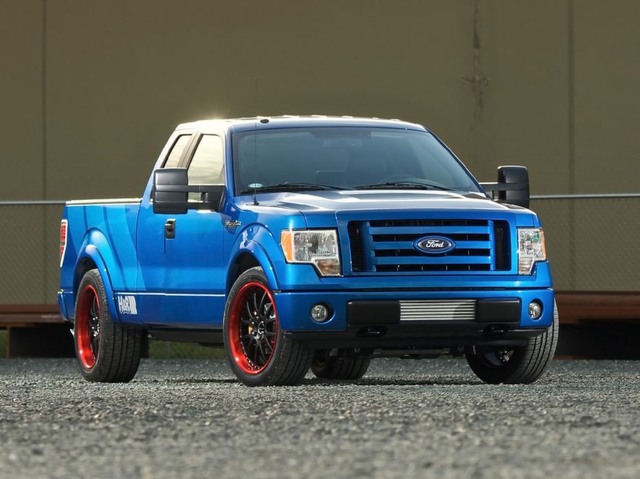 2009 Ford F-150 pickup truck muscle hot rod rods tuning supertruck wallpaper