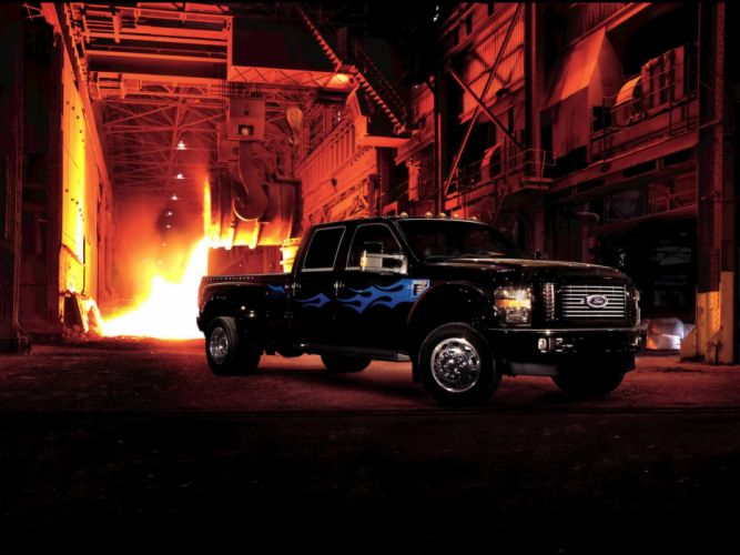 2009 Ford F-450 Super Duty Harley Davidson pickup truck 4x4 muscle wallpaper