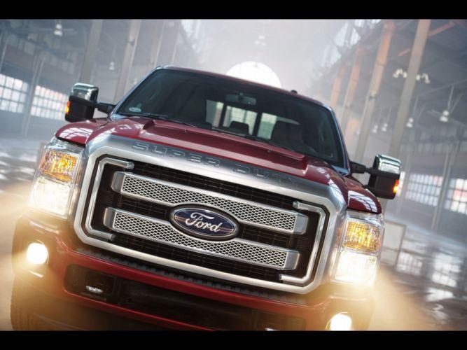 2013 Ford F-Series Super Duty Platinum pickup truck 4x4 b wallpaper