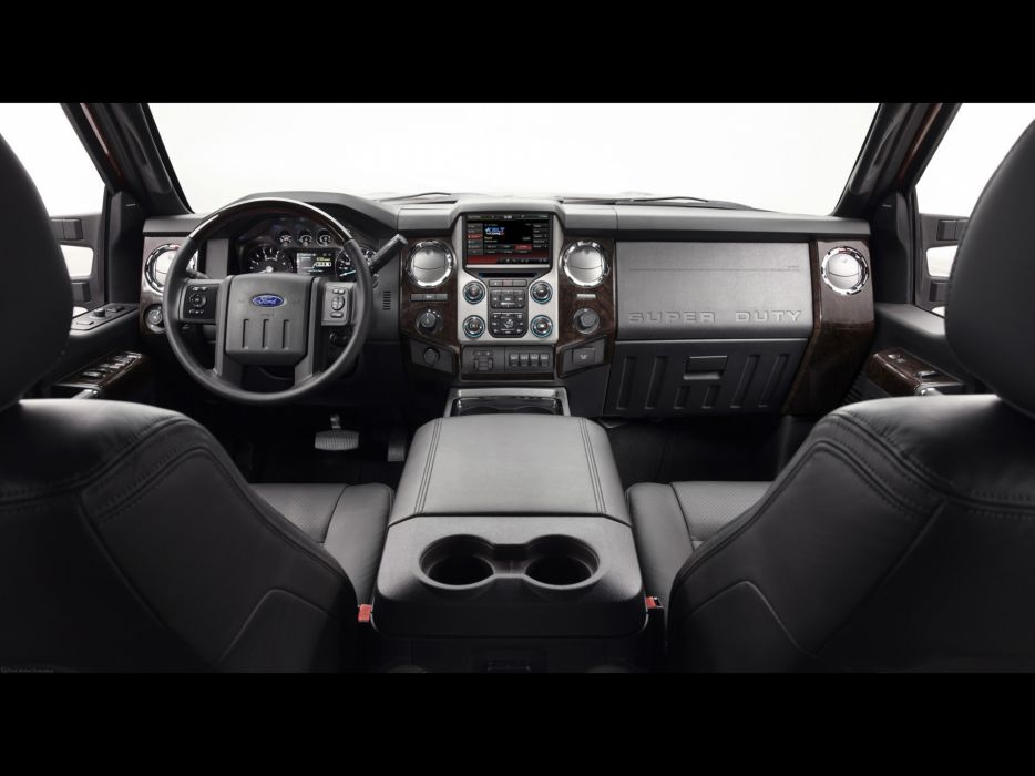 2013 Ford F-Series Super Duty Platinum pickup truck 4x4 interior wallpaper