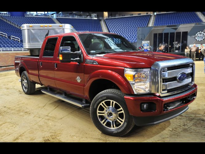 2013 Ford F-Series Super Duty Platinum pickup truck 4x4 wallpaper