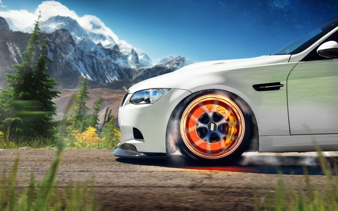 bmw white m3 caliper tuning wallpaper