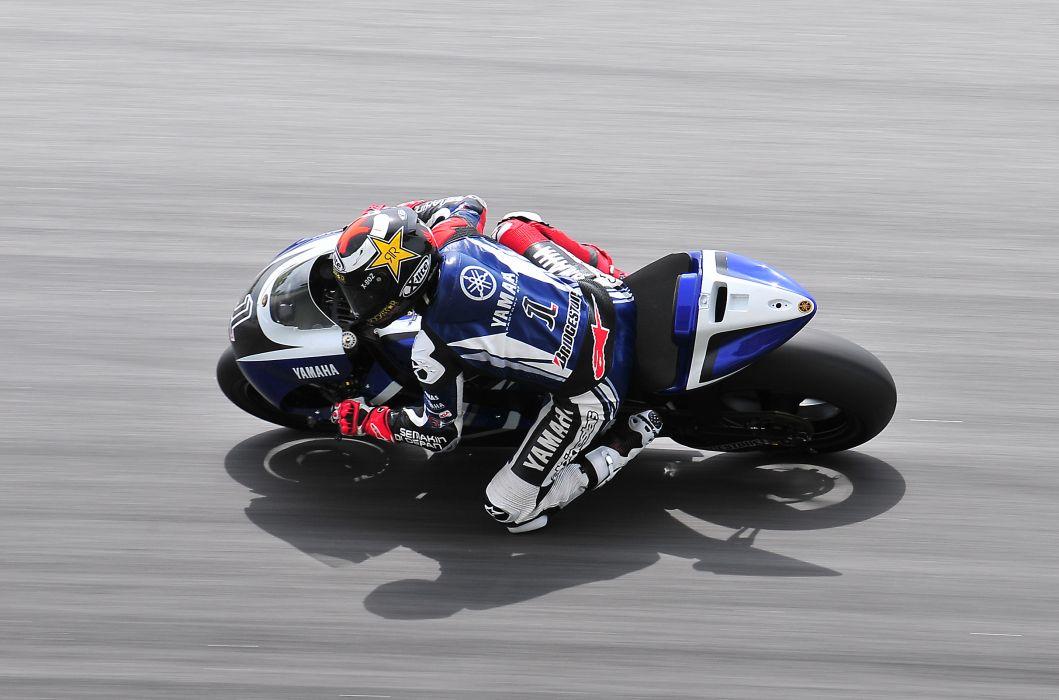Motorcycle Yamaha MotoGP Racer Sports Road Speed Asphalt In Motion race racing wallpaper