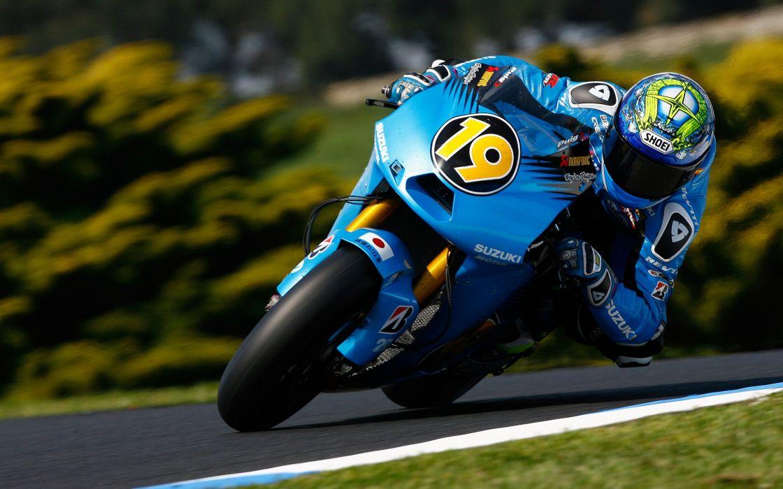 Suzuki MotoGP Sport Motorcycle Racer 19 Rotate race racing wallpaper