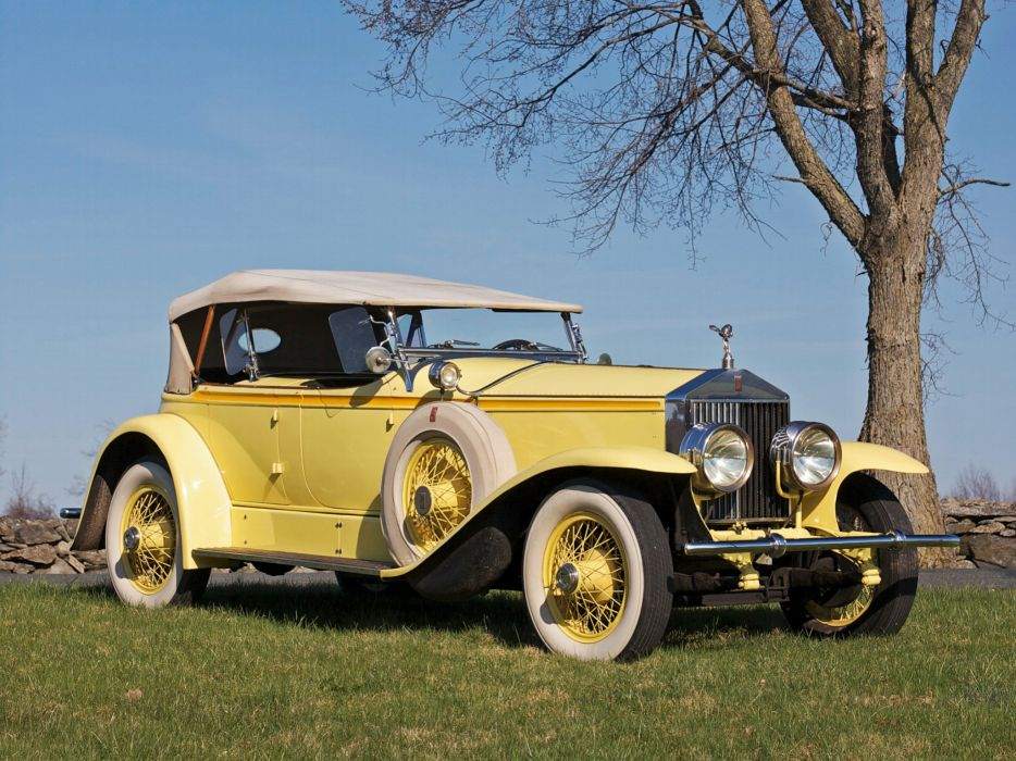 1929 Rolls Royce Phantom I Ascot Sport Phaeton luxury retro    g wallpaper