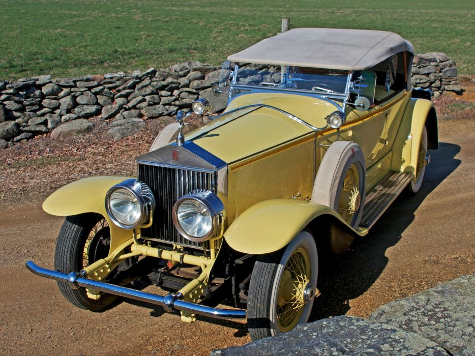 1929 Rolls Royce Phantom I Ascot Sport Phaeton luxury retro    t wallpaper