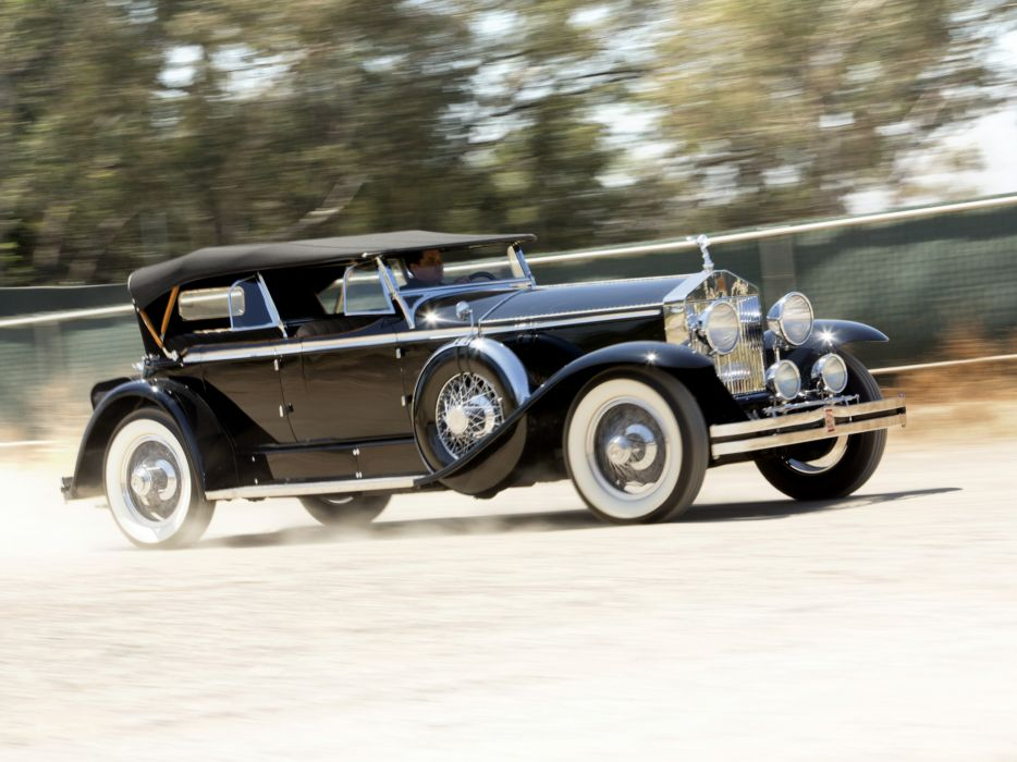 1929 Rolls Royce Phantom I Ascot Sport Phaeton luxury retro wallpaper