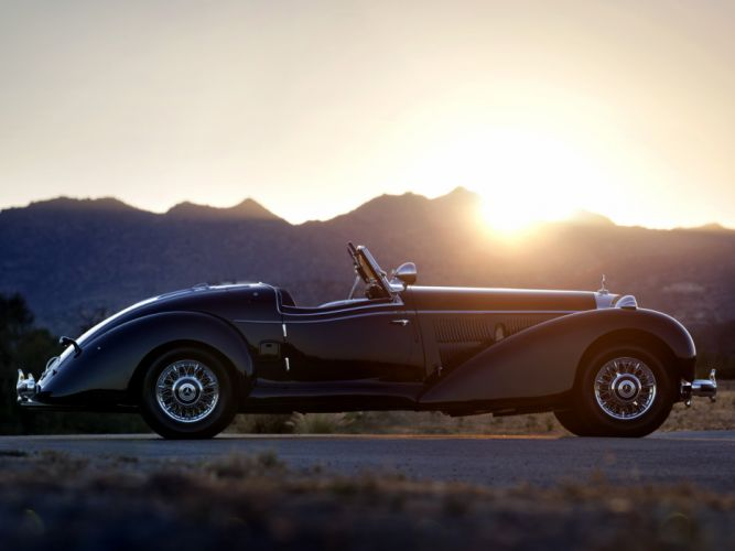1939 Mercedes Benz 540K Special Roadster retro supercar supercars f wallpaper