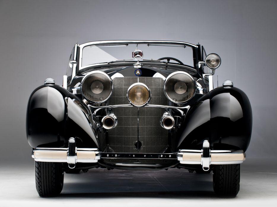 1939 Mercedes Benz 540K Special Roadster retro supercar supercars    d wallpaper