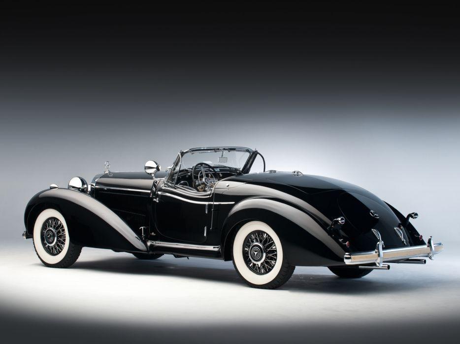 1939 Mercedes Benz 540K Special Roadster retro supercar supercars   f wallpaper