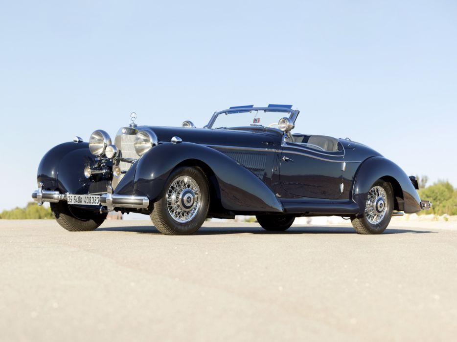 1939 Mercedes Benz 540K Special Roadster retro supercar supercars g wallpaper
