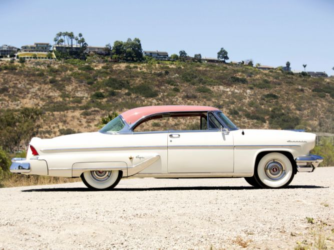 1955 Lincoln Capri Special Custom Hardtop Coupe 60A retro luxury f wallpaper