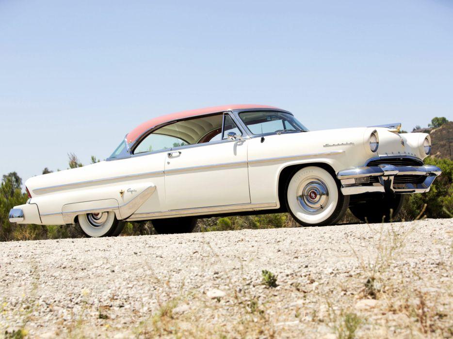 1955 Lincoln Capri Special Custom Hardtop Coupe 60A retro luxury  g wallpaper