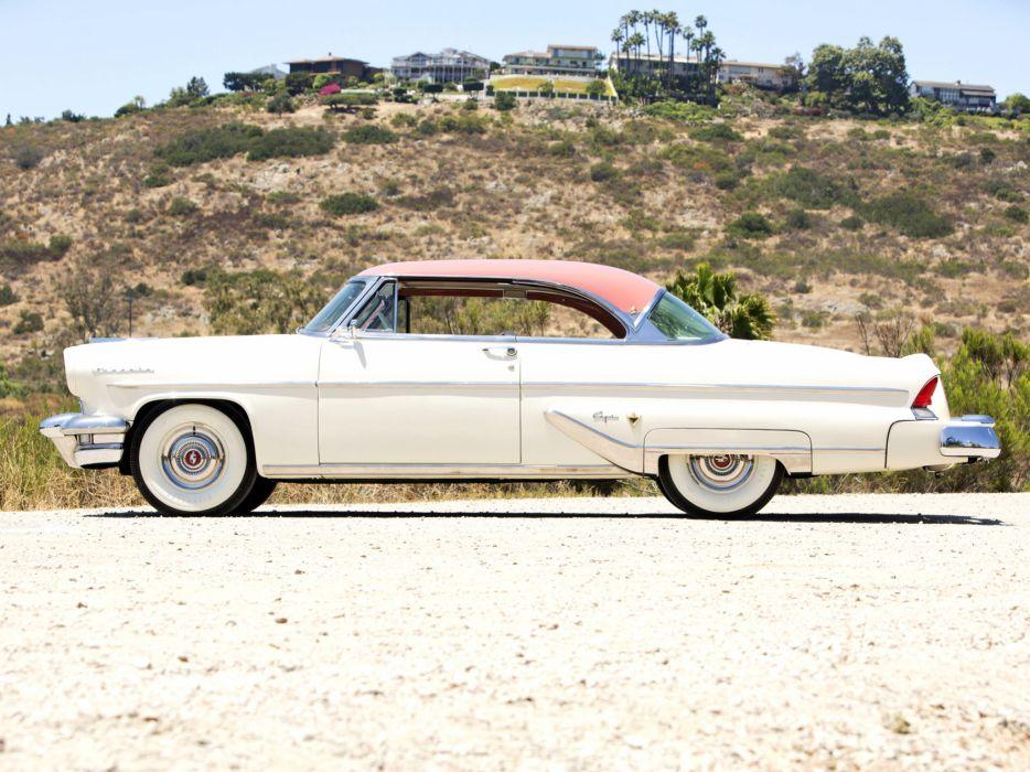 1955 Lincoln Capri Special Custom Hardtop Coupe 60A retro luxury wallpaper