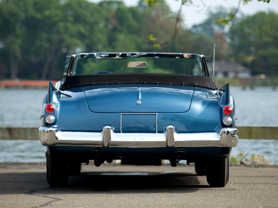 1957 Dual-Ghia Convertible retro        d wallpaper