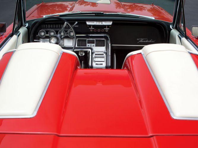 1964 Ford Thunderbird Convertible 76A classic interior f wallpaper