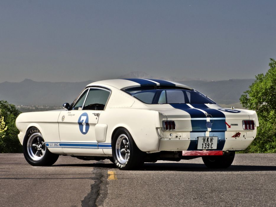 1965 Shelby GT350R ford mustang classic muscle supercar supercars hot rod rods    f wallpaper