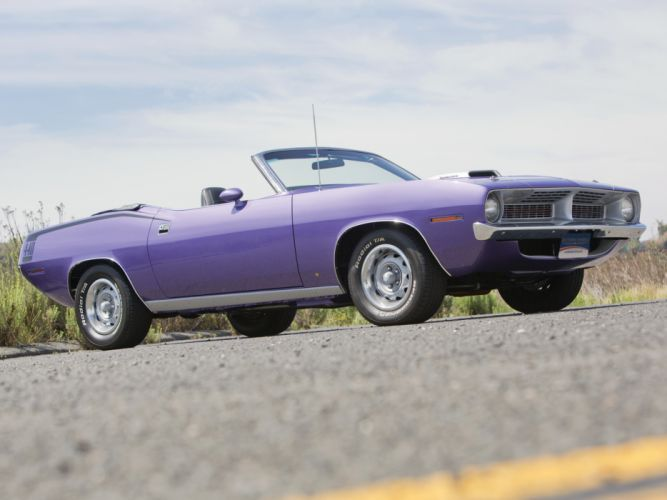 1970 Plymouth Cuda 440 Convertible BS27 classic muscle purple f wallpaper