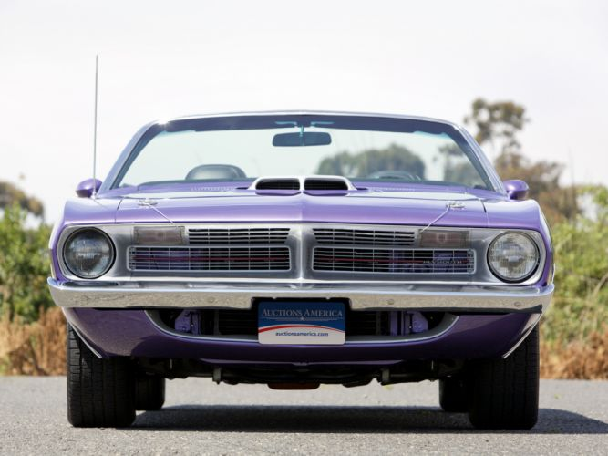 1970 Plymouth Cuda 440 Convertible BS27 classic muscle purple g wallpaper