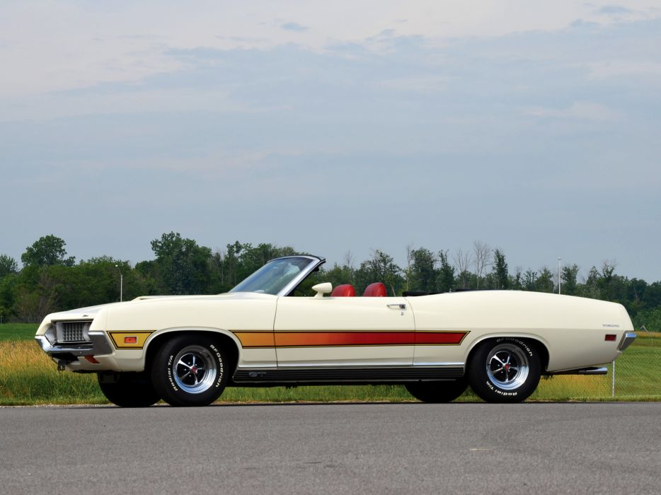 1971 Ford Torino G-T Convertible 76F classic muscle wallpaper