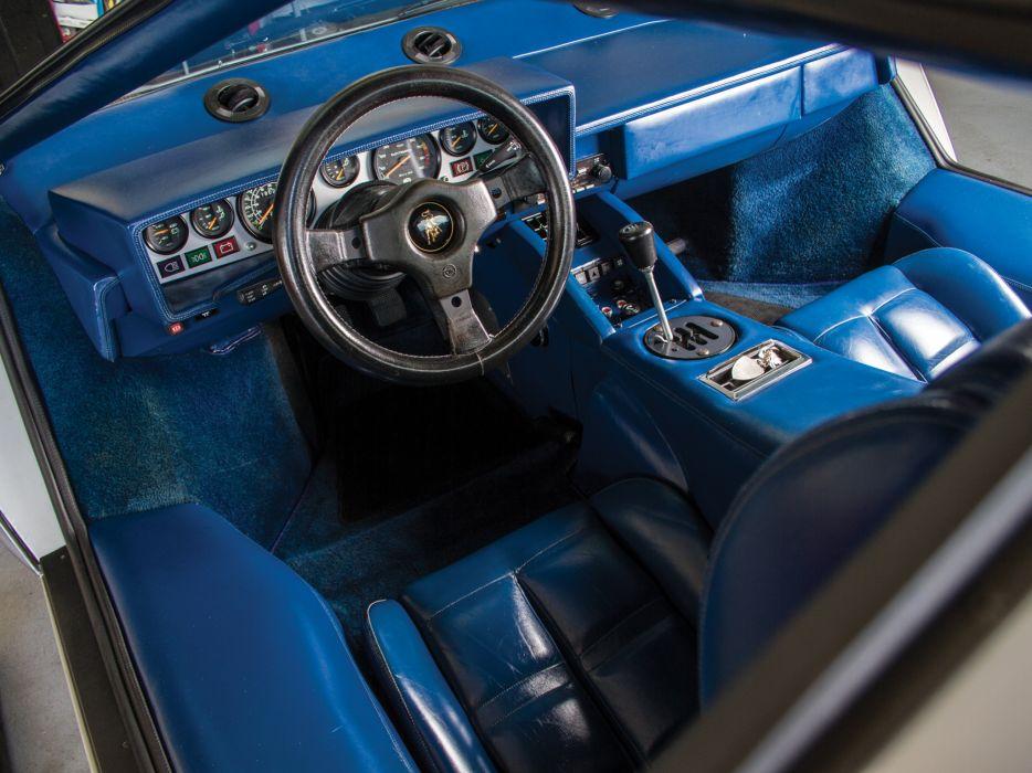 1982 Lamborghini Countach LP5000 S classic supercar supercars interior wallpaper