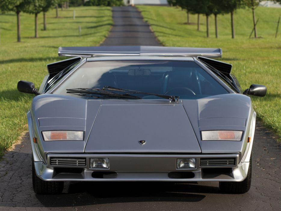 1982 Lamborghini Countach LP5000 S classic supercar supercars    f wallpaper