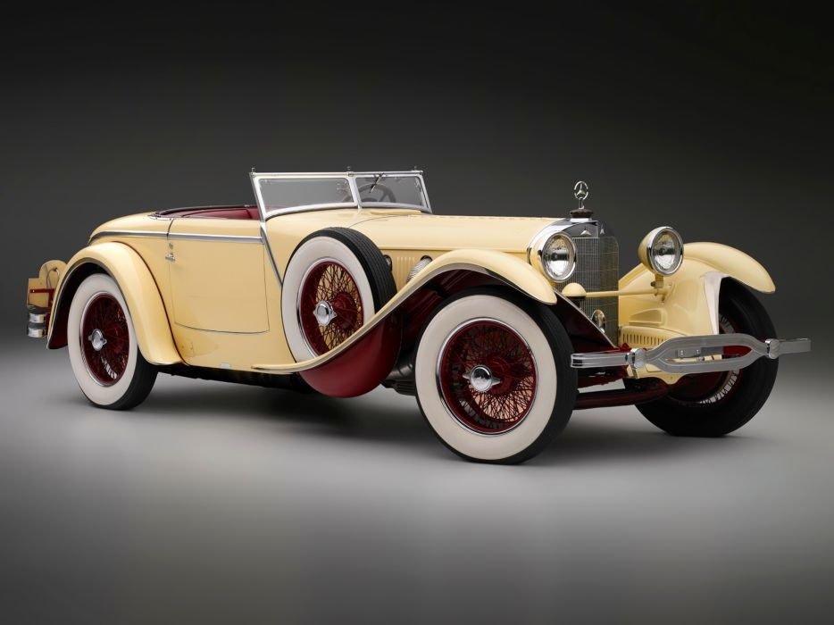1928 Mercedes Benz 680S Torpedo Roadster Saoutchik retro supercar supercars   f wallpaper