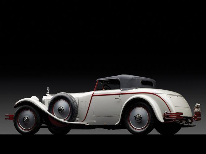 1928 Mercedes Benz 680S Torpedo Roadster Saoutchik retro supercar supercars wheel wheels f wallpaper
