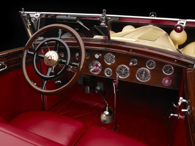 1928 Mercedes Benz 680S Torpedo Roadster Saoutchik retro supercar supercars interior r wallpaper