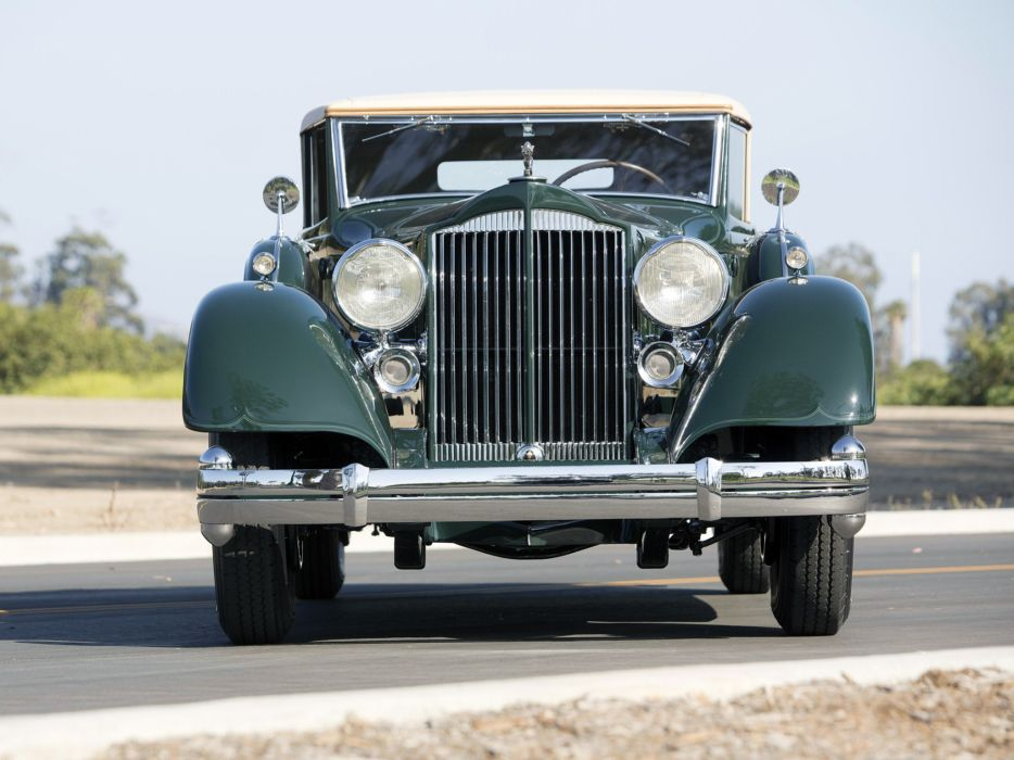 1934 Packard Twelve Coupe Roadster luxury retro      f wallpaper