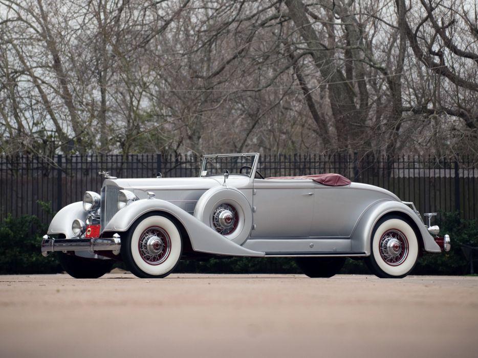 1934 Packard Twelve Coupe Roadster luxury retro   g wallpaper