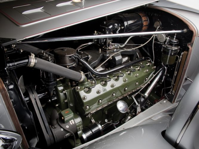 1934 Packard Twelve Coupe Roadster luxury retro engine engines wallpaper