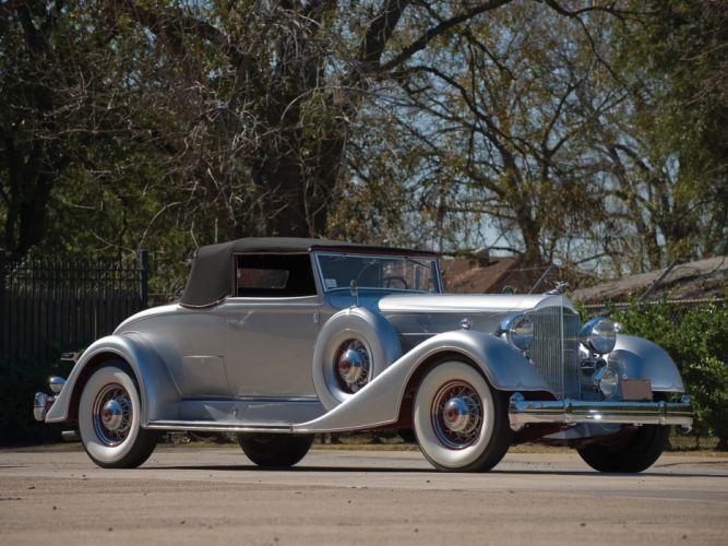 1934 Packard Twelve Coupe Roadster luxury retro gd wallpaper